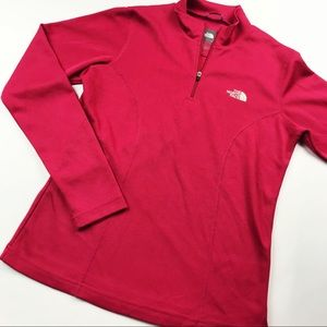 Pink North Face pull over sweater🌸